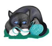 Aqua Ball of Yarn for Mouse and Kitten