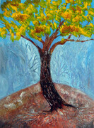 Fall Tree - acrylic  SOLD