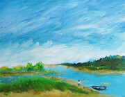 Fishing on the Inlet - acrylic SOLD