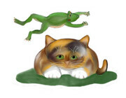 Leap Kitty played by Frog