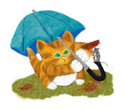 Umbrellas for Mouse and Kitty